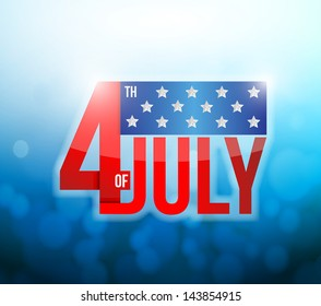 4th of july  abstract light background. illustration design