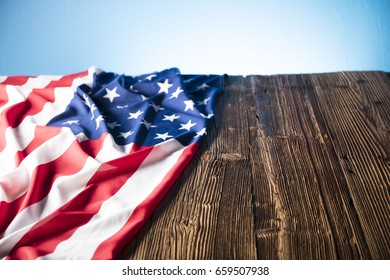 4th of July. American flag. Independence Day.