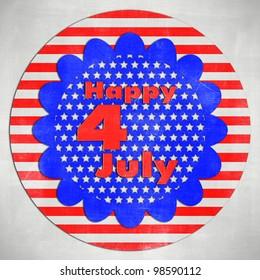 4th of July card in scrap paper