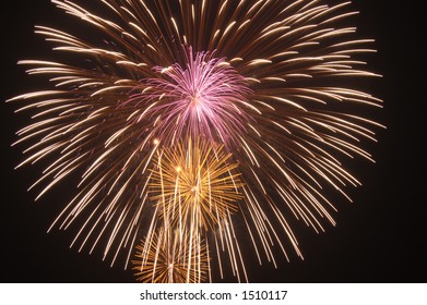 4th of July fireworks display over Red Bank New Jersey