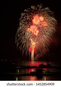 4th of July Fireworks over Grand Traverse Bay, Traverse City , Michigan
