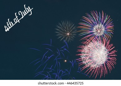 4th July Independence Day Fireworks Background