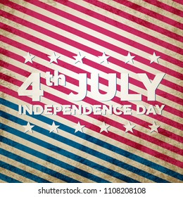 4th of July Independence day. Memorial day. Background design.