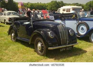 4th June 2017- A vintage Morris tourer being displayed at a classic car show in the grounds of Scolton Manor near Haverfordwest, Pembrokeshire, Wales, UK.