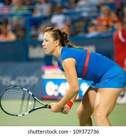 WASHINGTON-Â?AUGUST 4:Top seed Anastasia Pavlyuchenkova (RUS) falls to Magdalena Rybarikova (SVK, not pictured) in the championship match at the Citi Open on August 4, 2012 in Washington.
