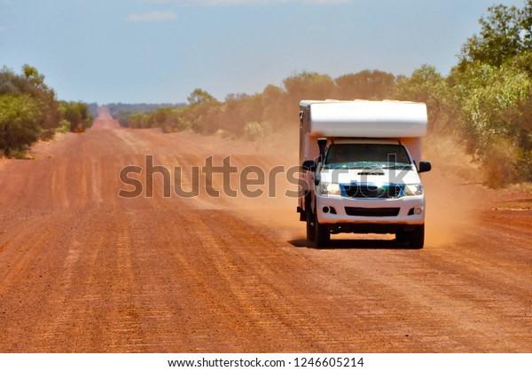 4x4 Offroad Camper Van Driving On Stock Photo (Edit Now