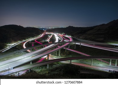 the 5 and 14 highway interchange