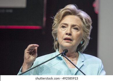 5 August 2016 - Washington,DC - Secretary Hillary Clinton speaks in front of NABJ and NAHJ convention.