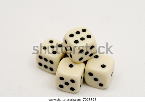 5 dice stacked