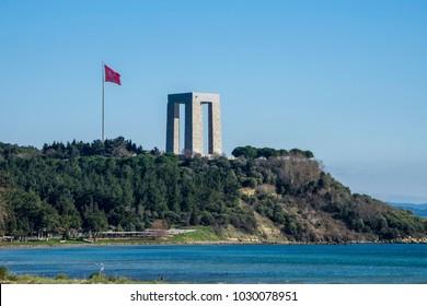 5 Feb 2018, Canakkale (Dardanelles) martyrs memorial monument in Gallipoli, Turkey