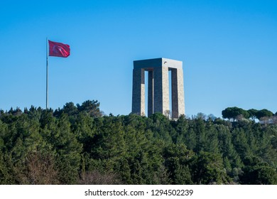 5 Feb 2018 Canakkale (Dardanelles) martyrs memorial monument in Gallipoli, Turkey