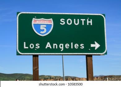 5 Freeway towards Los Angeles