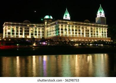 5* hotel at night