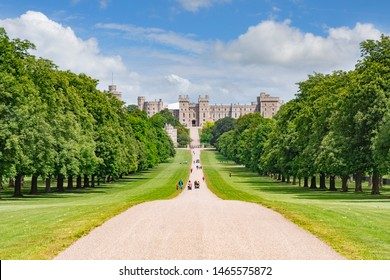 5 June 2019: Windsor, Berkshire, UK - The Long Walk in Windsor Great Park and Windsor Castle.
