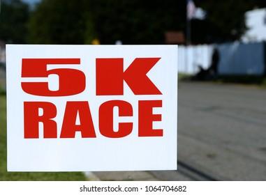 5 K Race Sign