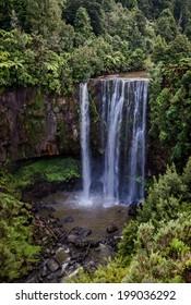 5 metre Curtain Waterfall Omaru Falls, North Island, New Zealand