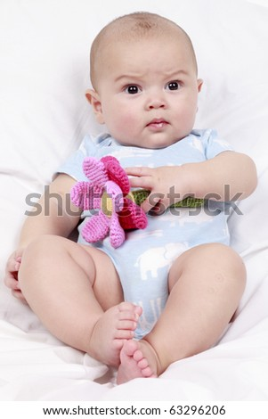5 Month Old Baby Playing Cuddly Stock Photo Edit Now 63296206