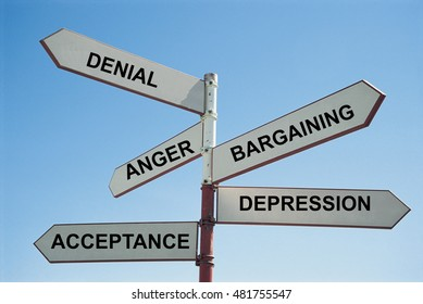 5 stages of grief sign