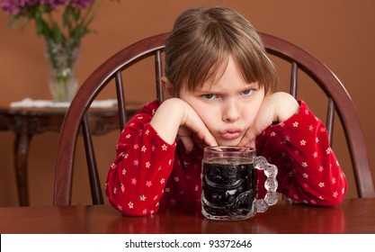5 y/o child reacts to being served black coffee