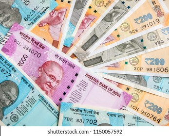 50, 200, 500 and 2000 Indian rupees, new notes.