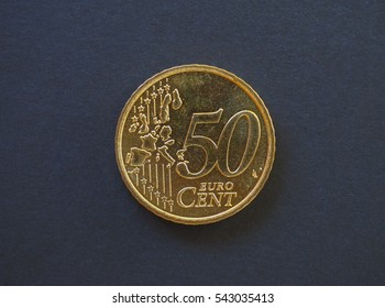 50 cents coin money (EUR), currency of European Union, common side