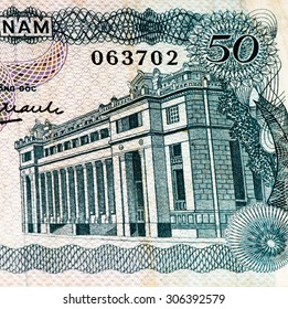 50 dong bank note of South Vietnam. Dong is the national currency of Vietnam
