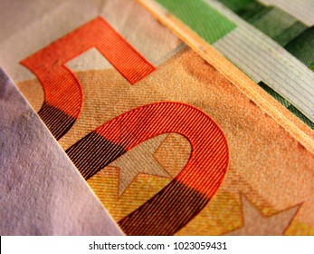 50 euro bank note background