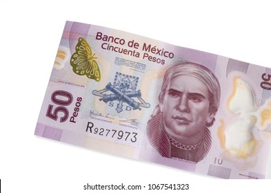 50 Mexican pesos bill