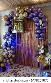 50 years celebrations decor. Birthday party.