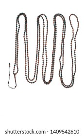 500 prayer beads made of wonderful composition on white background.