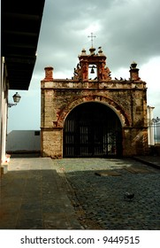 500 year old Christ's Chapel, a famous landmark in Old San Juan, PR, USA.