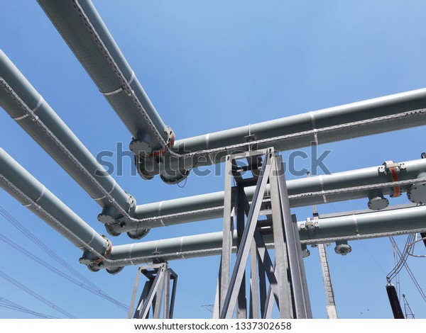 500230kv Gas Insulated Switchgear Gis Substation Stock Photo (Edit
