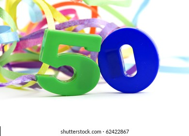 50,fifty,anniversary numers isolated on white background