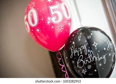 50th Birthday Balloons Stock Photo Edit Now 1053282953