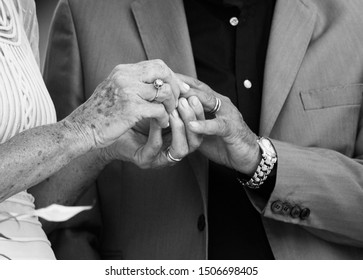 50th of marriage with ring black and white