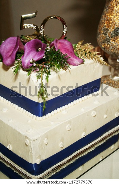 50th Wedding Anniversary Cakes.50th Wedding Anniversary Cake Stock Photo Edit Now 1172779570