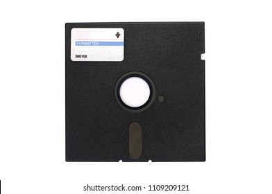 "5,25"" Floppy disk isolated on white background."