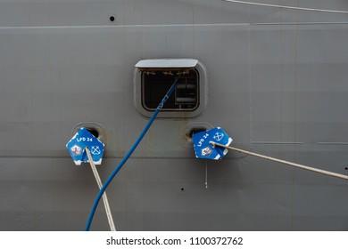 5/28/18- New York,NY - In New York City, the Navy has arrived.  It's fleet week on board the USS Arlington.