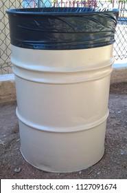 55 Gallon Drum Trash Cans