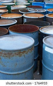 55 gallon waste drums