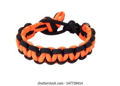 550 Paracord Survival Bracelet Cobra Purple//Orange Camping Military Tactical