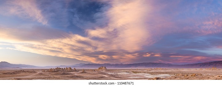 58 MP panorama of Mojave desert rock formation near Ridgecrest and Death Valley, California
