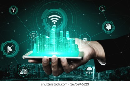 5G Communication Technology Wireless Internet Network for Global Business Growth, Social Media, Digital E-commerce and Entertainment Home Use.