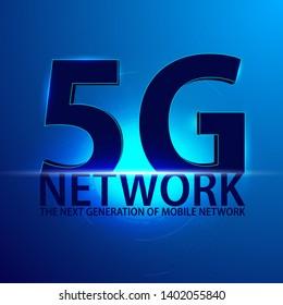5G new wireless internet wifi connection.