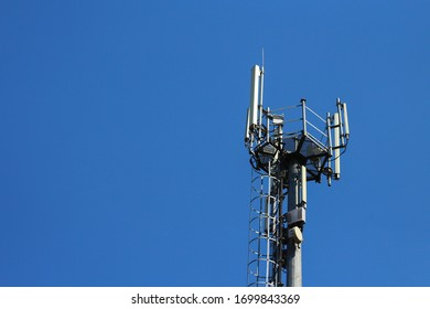 5G tower with space for inscription or text, background