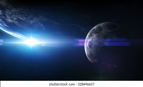 5K resolution image of Earth in space. Elements furnished by NASA