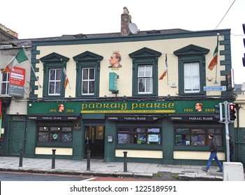 5th November 2018, Dublin. Padraig Pearse pub on Pearse Street, named after the 1916 Irish Easter Rising leader.