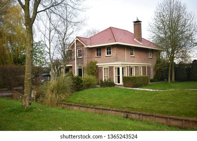 6 April 2019, Amstelveen, The Netherlands.  Beautiful house and garden in Amstelveen, a small town in the Netherlands.
