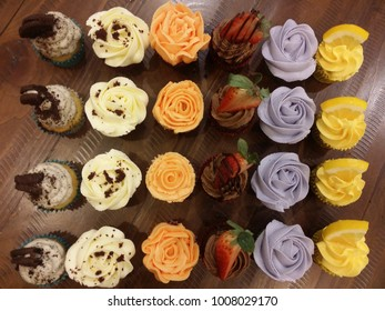 6 different type of cupcakes