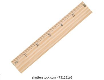 A 6 inch school ruler